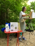 Me, my easel and the notorious little red table I travel with.