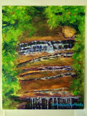 "Finished 8"" x 10"" on panel of Big Clifty, May 2016."