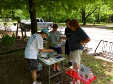 My next stop was the Nature Center where I set up painting supplies for a hands-on painting activity under the cool shade trees.