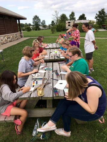 Everyone had a chance to try out different art supplies and techniques.