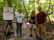 It was nice meeting a fellow artist and watercolor painter along the trail.