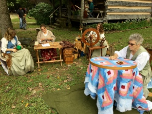 There were plenty of talented artisans and musicians at the Living Pioneer Farmstead also creating their forms of art.
