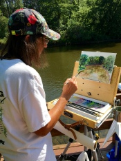 The river overlook near Tippecanoe's nature center offered an ideal spot for plein air painting.