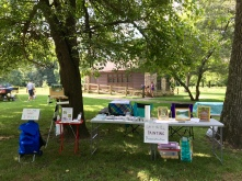 My set up for the rest of the afternoon took place under the shade of mulberry trees in front of the nature center, as part of the park's 75th anniversary celebration.