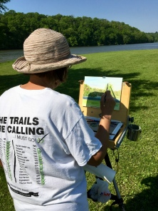 After a long winter, it felt good to get outside and paint the 230-acre manmade lake in Indiana's second largest state park.