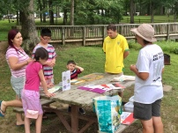 Our location close to the campground encouraged campers to stop by and check out the program and painting progress.