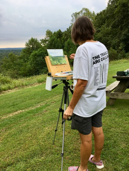 I began the day with an oil painting at the Weed Patch Hill vista.