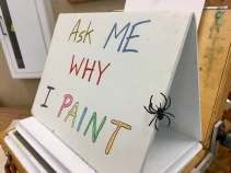 We end with the question that has traveled with me through every state park for four years. And now my spider friend and I leave that question for you. Why do YOU paint?
